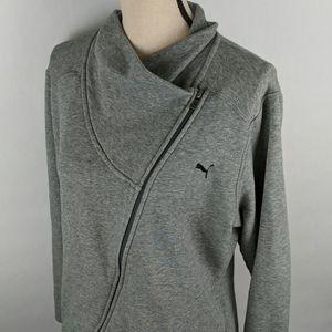 Puma zip-up jacket quest diagonal zipper